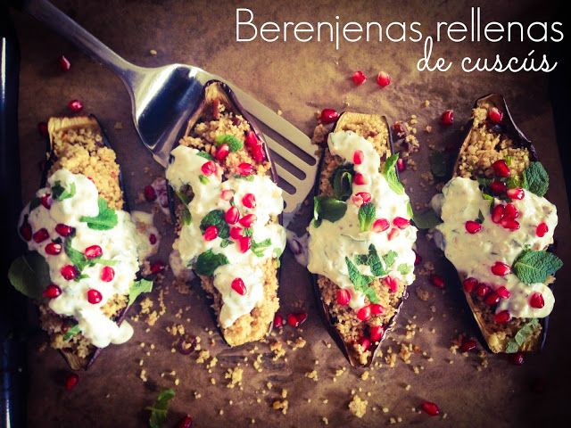 #receta #berenjenas #cuscus #granadas #blog