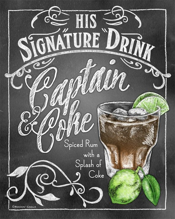 Something Blue Signature Drink Sign Personalized Bridal