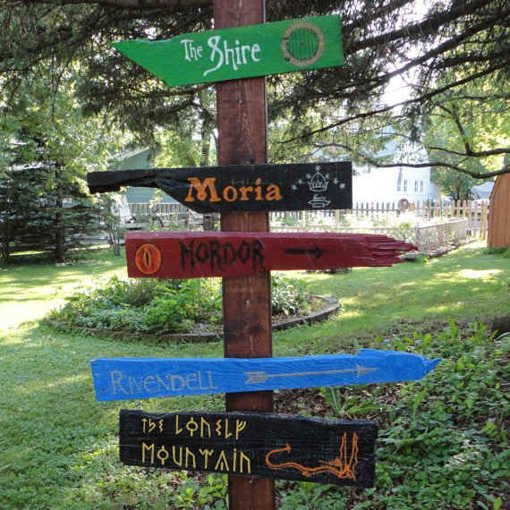 Lord of the Rings signpost | 21 Great Geek Gifts For Every Fandom