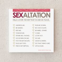 Sexy Sticky Notes. Naughty Adult. For Husband Wife by FlytrapOnE, $5.00
