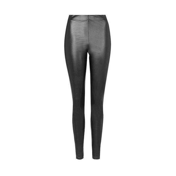 TopShop Tall Wet-Look Leggings (32 AUD) ❤ liked on Polyvore featuring pants, leggings, black, liquid leggings, topshop pants, elastic waistband pants, tall leggings and wet look leggings