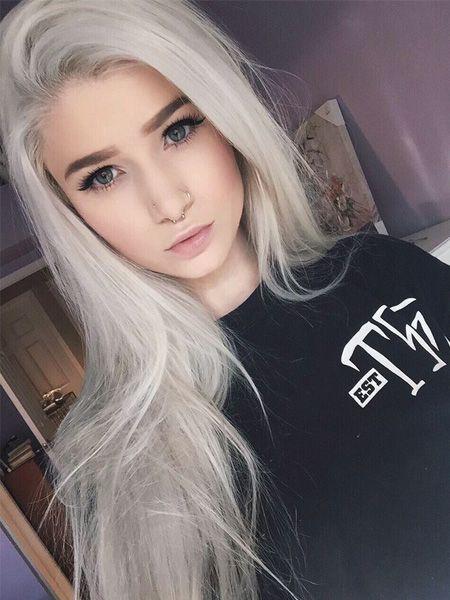 cabello gris con californianas azul , Buscar con Google