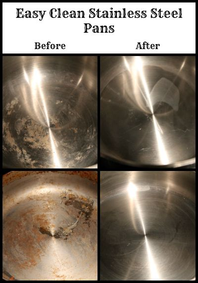 Easy clean your stainless steel pans with one simple ingredient you have at home.