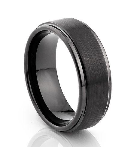TUR 500BP - 8mm Men's Tungsten Carbide Wedding Ring