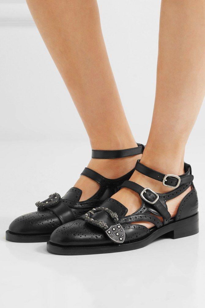 Chaussures plates femme : gros coup de coeur pour ces derbies ouvertes qui ressemblent a des mocassins, signés Gucci