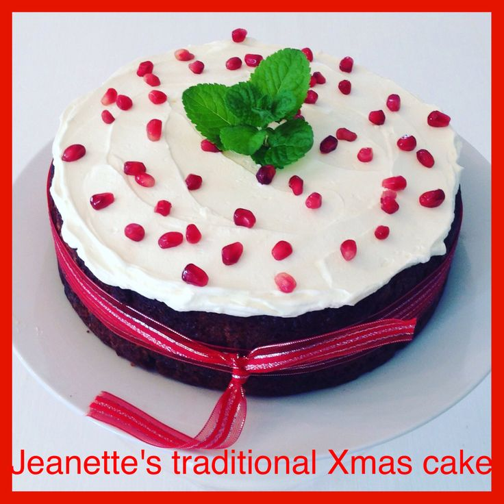 CHRISTMAS CAKE -  A new and improved version of my first Christmas cake on this board..  18cm diameter *For a bigger cake - 21cm - add another half quantity of the ingredients to mix* The image below is of the larger cake. You can bake this cake a 2-3 days in advance. ...