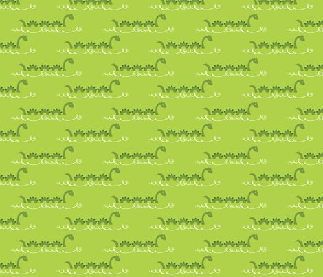 Happy Sea Monsters fabric by oliveandruby on Spoonflower - custom fabric