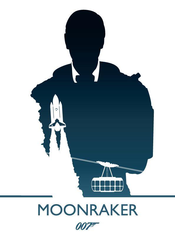 Moonraker, James Bond by Phil Beverley, via Behance