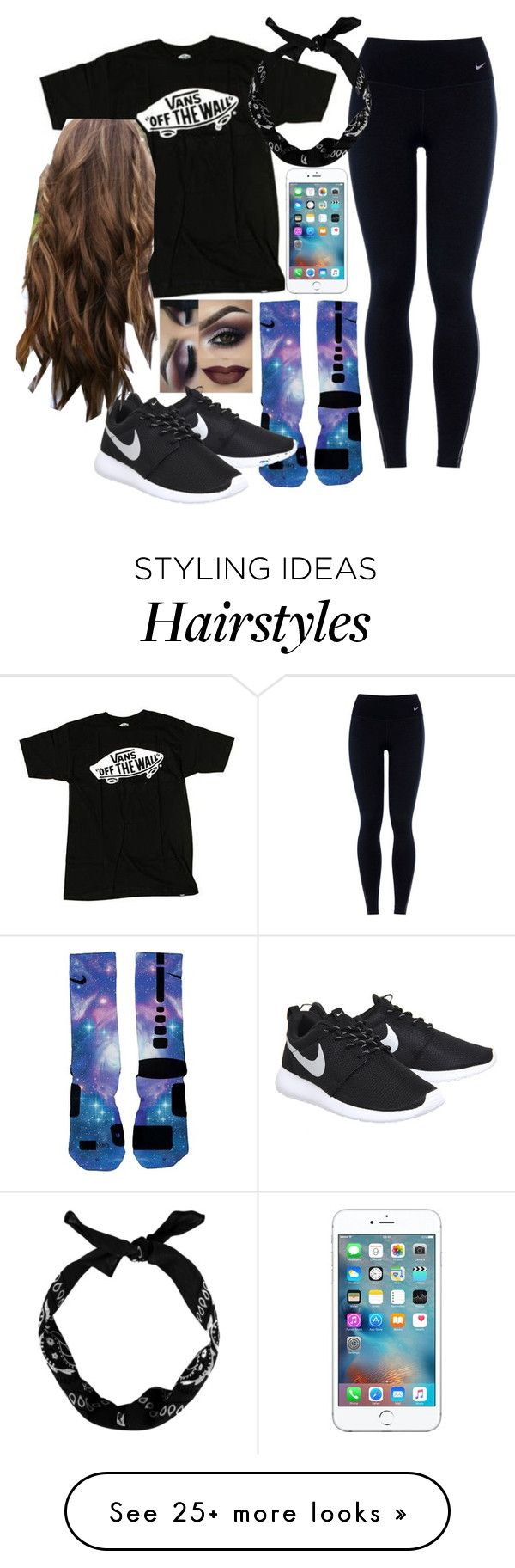 """""""is it just me or do these creep you out?"""" by preppygirl13 on Polyvore featuring NIKE, Vans, Apple, women's clothing, women, female, woman, misses and juniors"""