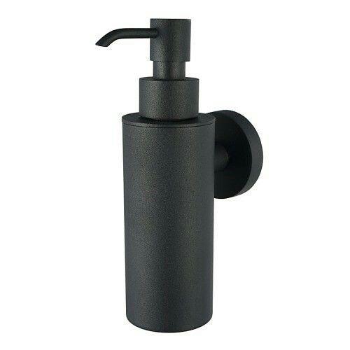 Zwarte zeepdispenser douche