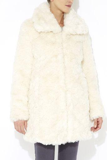 Ivory Faux Fur Midi Coat #MyChristmasStory