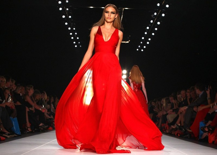My favourite image from LMFF! The Romana Gown sweeps down the runway...