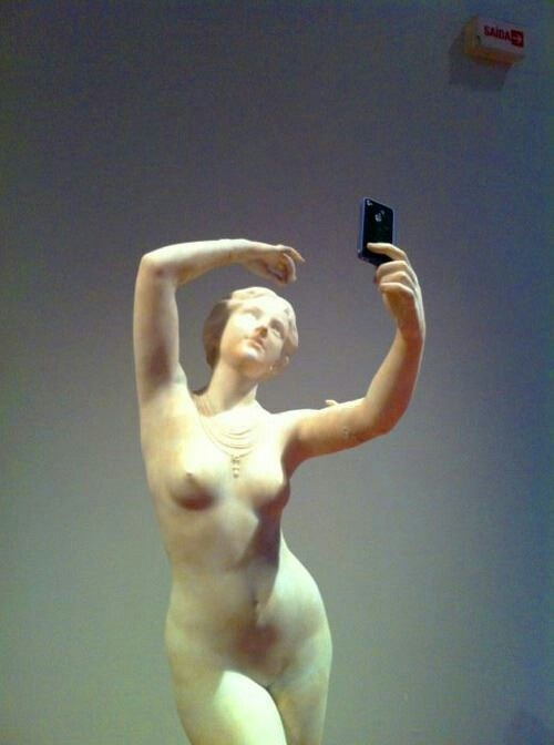 Contemporary art :P woman with a smartphone! haha