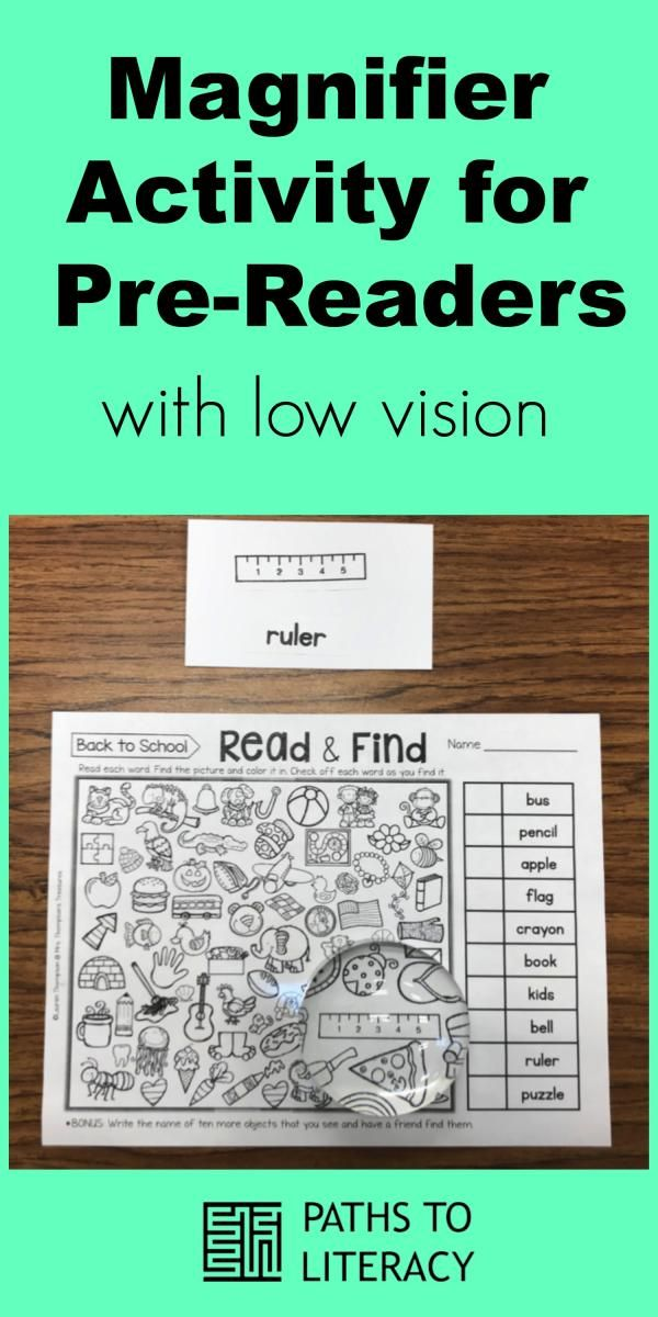 This magnifier activity for pre-readers is designed to teach the use of a dome m…