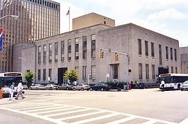 Exterior of the Baltimore District Court,  (4th Circuit), Corner of Calvert and Fayette St. Baltimore, MD