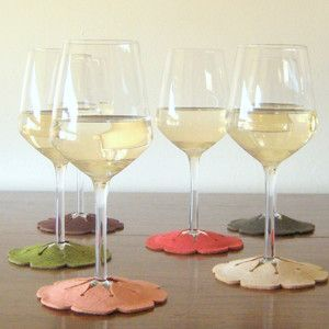 Stay-On Wine Glass Coasters 6Pk, 15,50€, now featured on Fab.