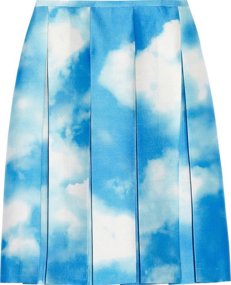 Michael Kors Cloud Print Skirt. Image via Net-A-Porter.