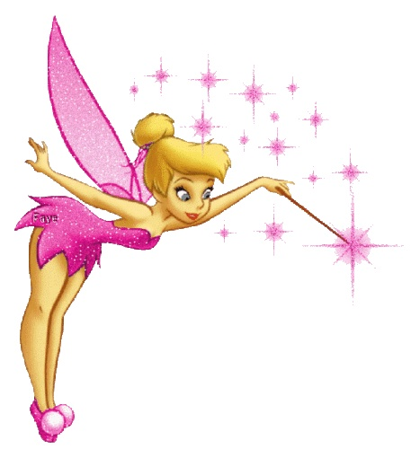 My three favorite things...pink..tink..and glitter