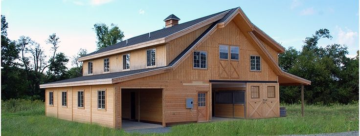 Horse barns google search barn elevations pinterest for Rv garage with living quarters
