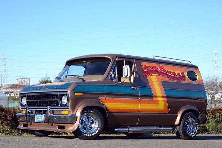 """Sun Dance"" custom Ford van"