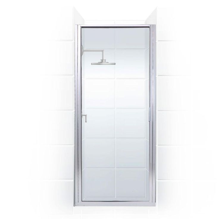 Coastal Shower Doors Paragon Series 23 in. x 82 in. Framed Continuous Hinged Shower Door in Chrome with Clear Glass