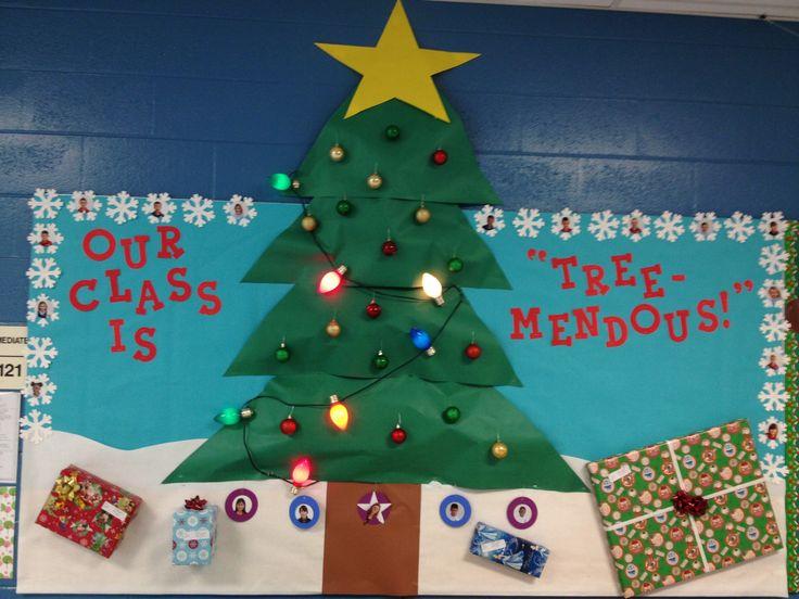 My Christmas Tree Bulletin Board :)
