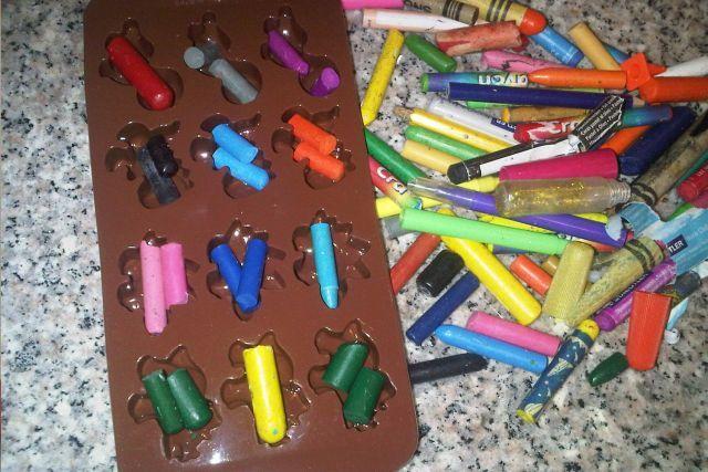 #Bricolage avec des #crayons de #cire