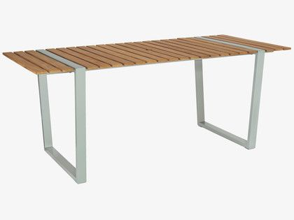 albee large teak garden table