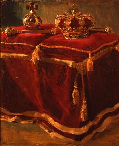 © Koninklijk Huisarchief: Kroon van Oranje Schilderij van Pieter Josselin de Jong, 1898