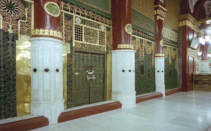 """Al-Masjid al-Nabawi ( المسجد النبوي """"Mosque of the Prophet""""), is a mosque situated in the city of Medina. As the final resting place of the Islamic prophet Hazrat Muhammad(P.B.U.H), it is considered the second holiest site in Islam by Muslims (the first being the Masjid al-Haram in Mecca) and is one of the largest mosques in the world. It is the second mosque built in history."""