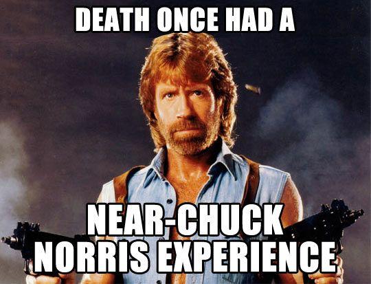 Near-Chuck Norris experience…