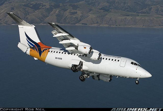 British Aerospace BAe-146-200. I use to work this type of aircraft at Washington's Dullas Int'l Airport back when I worked for Presidential Airways. 1987-88