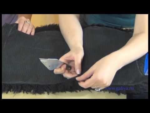 Меховой жилет крой меха - YouTube