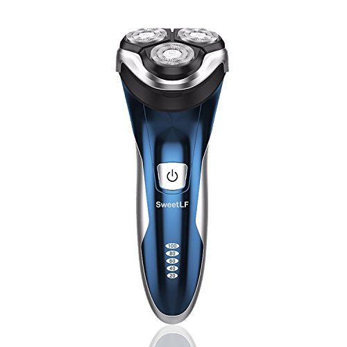 SweetLF Electric Shaver for Men 100% Waterproof IPX7 Wet & Dry Rechargeable Rotary Shaving Razor with Pop-up Trimmer, Blue. For product & price info go to:  https://beautyworld.today/products/sweetlf-electric-shaver-for-men-100-waterproof-ipx7-wet-dry-rechargeable-rotary-shaving-razor-with-pop-up-trimmer-blue/