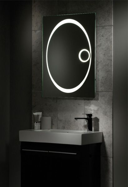 tavistock vapour mirror with shaver socket and magnifier