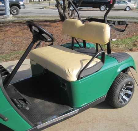 New 2012 Ez-Go 36v Electric Green Golf Cart w/ Custom Rims & Tires ATVs For Sale in Illinois. Looking to travel the golf course in style? Search no more! This luxurious EZ GO 36v Golf Cart offers you a stylish comfortable ride around the course. This high quality electric golf cart has so many great features, it's too hard to pass up. Take a look below and you'll notice that you won't find a better deal than this. This cart has been inspected by an authorized EZ GO Technician, and has…