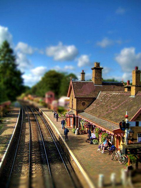 Arley Station on the Severn Valley Railway - fabulous use of #Tilt-Shift.