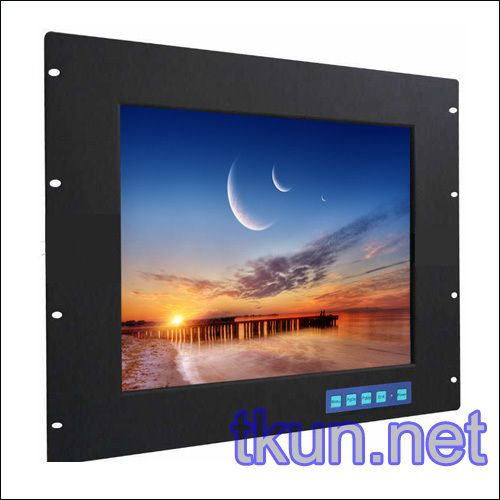 17-inch aluminum alloy panel rackmount industrial touch monitor, medical equipment, special displays of military aviation