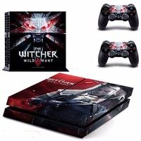 The Witcher 3 Wild Hunt PS4 Sticker skin For Sony Playstaion 4 Game Console Controller PS 4 accessories