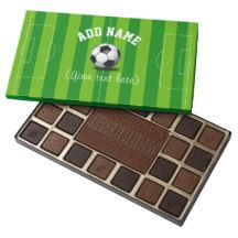 Soccer/Football Themed Personalized 45 Piece Box Of Chocolates