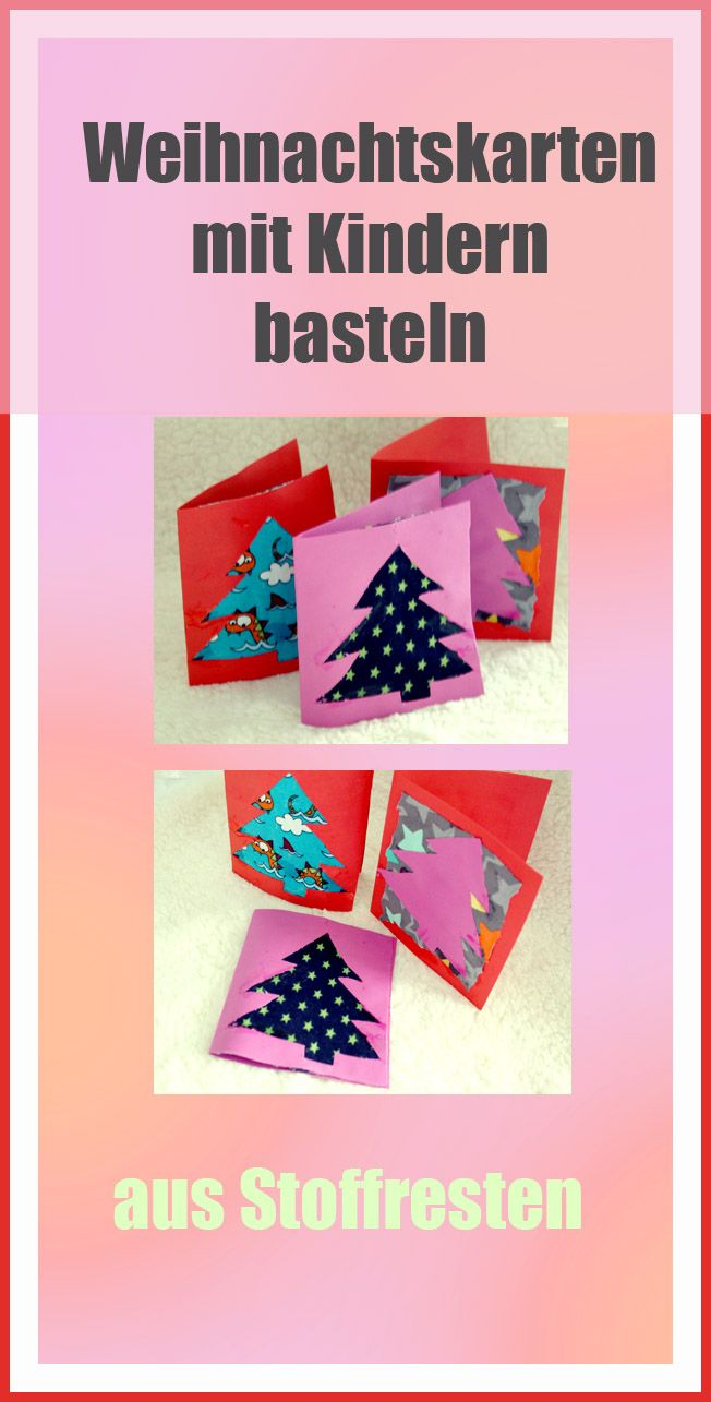 weihnachtskarten basteln mit kindern bastelideen f r. Black Bedroom Furniture Sets. Home Design Ideas