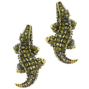 Gator Earrings now featured on Fab.