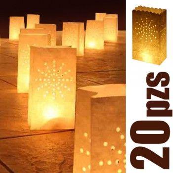 Paquete de luminarias / Paq. de 20 pzas - Globos de Luz   Artículos y detalles para bodas y eventos   Ideas originales para fiestasGlobos de Luz