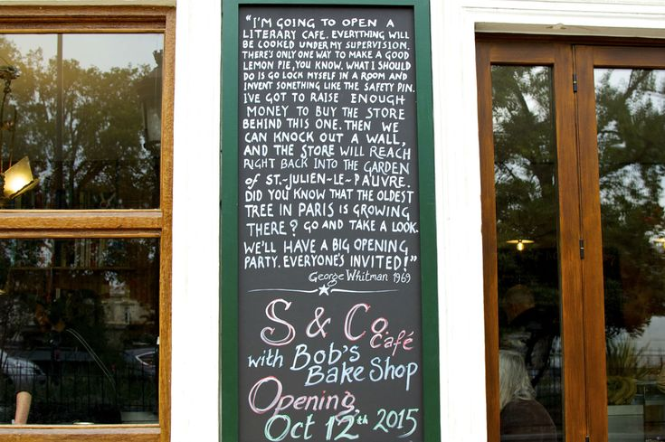 HiP Paris Blog, Shakespeare & Company Café is George Whitman's vision finally made reality.