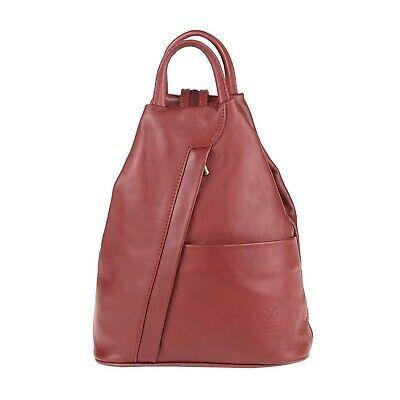 Italian Womens Genuine Nappa Leather Backpack Hand-Shoulder Bag Shopper Daypack Travel: £60.31End Date: 01-Dec… #tasche #backpack #bag