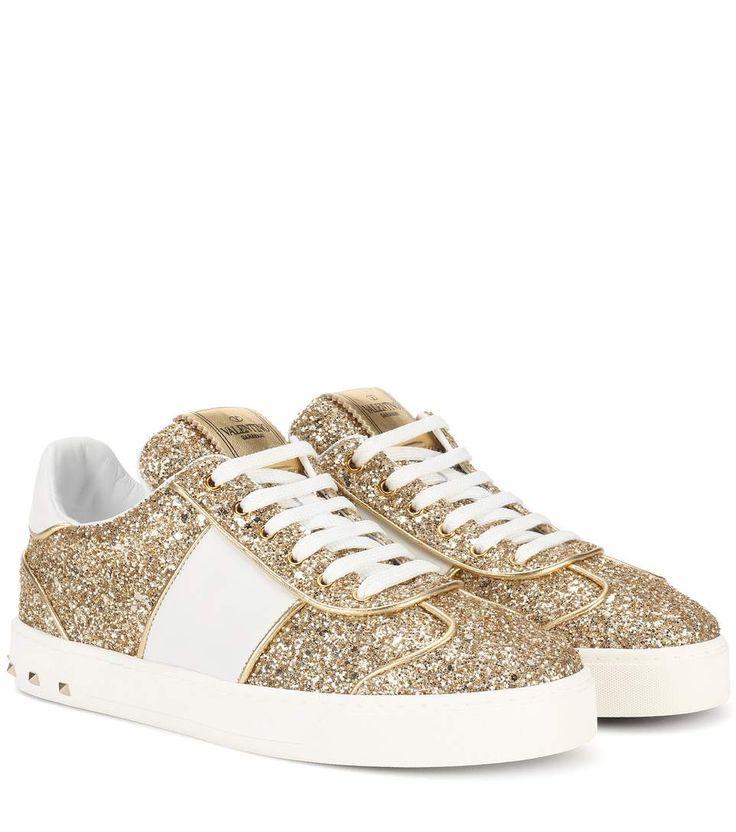 Valentino Valentino Garavani Soul Rockstud glitter sneakers