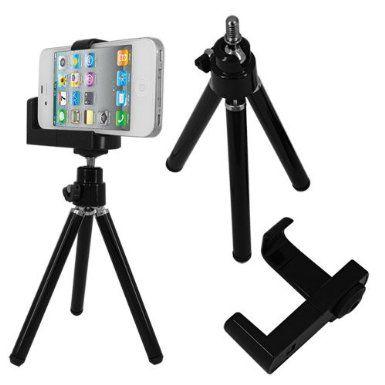 Skque® universel Mini trépied support caméra vidéo titulaire pour Apple iPod Touch, iPhone 3G, 3GS, 4, 4S, ( S'adapte à des dispositifs jusqu'à 58 mm de large) Noir: Amazon.fr: High-tech