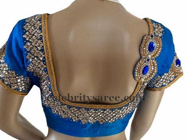 Orange Cut Work Bridal Blouse | Saree Blouse Patterns