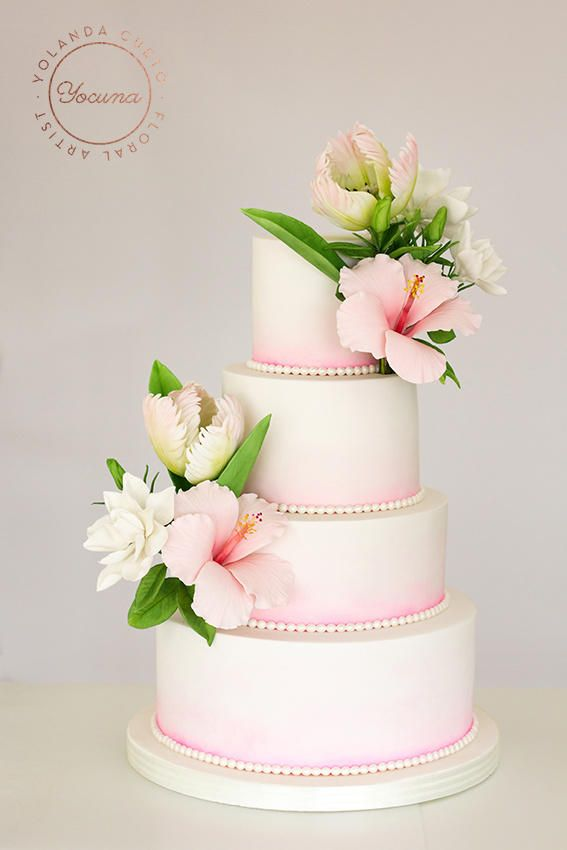 hibiscus wedding cakes 25 best ideas about hibiscus cake on hawaiian 15222