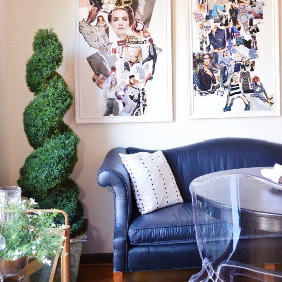 Create an inexpensive large wall art collage inspired by fashion